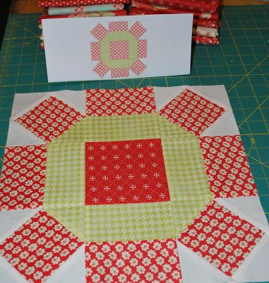 Orange and light greens - {Sisters and Quilters}: APPLE PIE IN THE SKY QUILT ALONG BLOCK 3