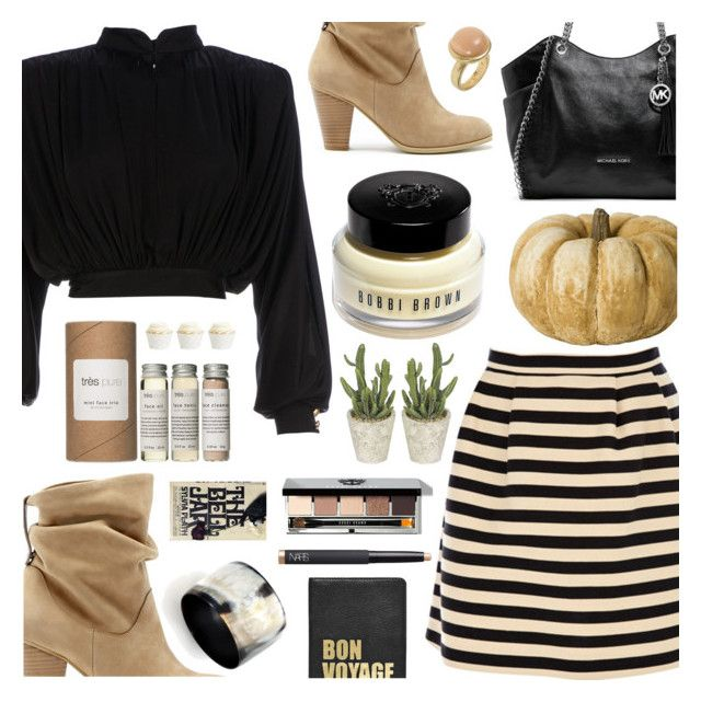 """""""Tonight I'm makin' deals with the devil..."""" by bleucabbage ❤ liked on Polyvore featuring Balmain, Sole Society, Nest, MICHAEL Michael Kors, Bobbi Brown Cosmetics, Hayden-Harnett, Sence Copenhagen, Très Pure and NARS Cosmetics"""