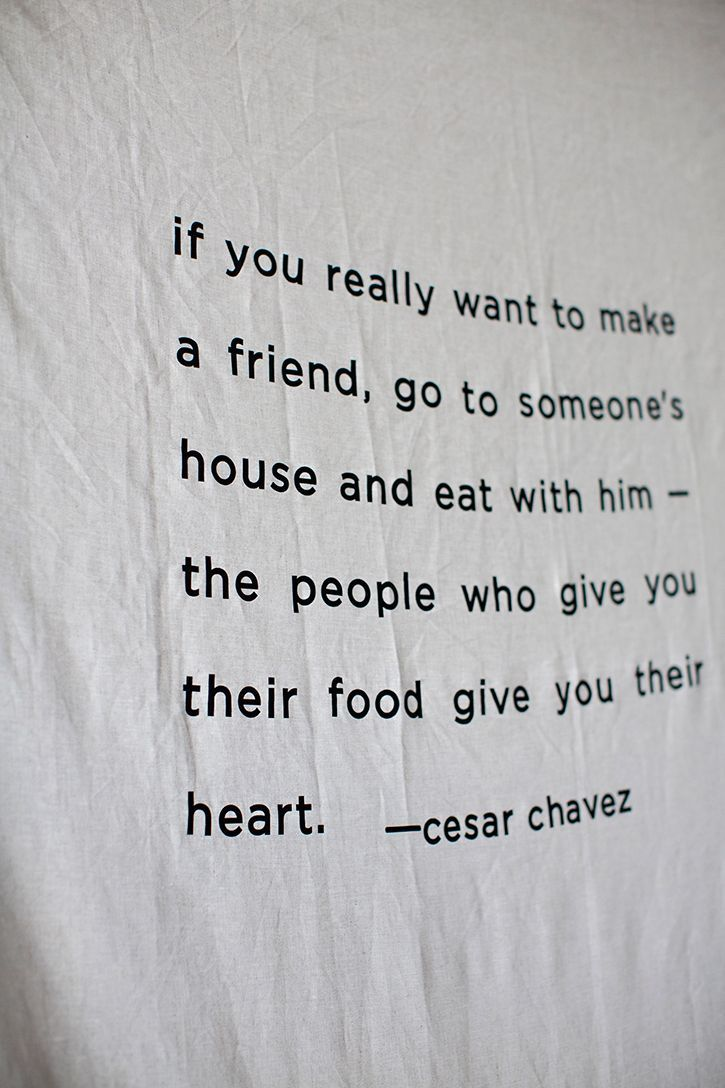 people who give you their food give you their heart