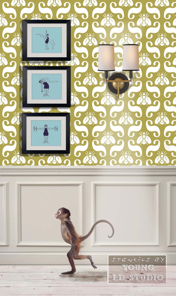 9 best Stencils images on Pinterest | Wall stenciling, Stencils ...