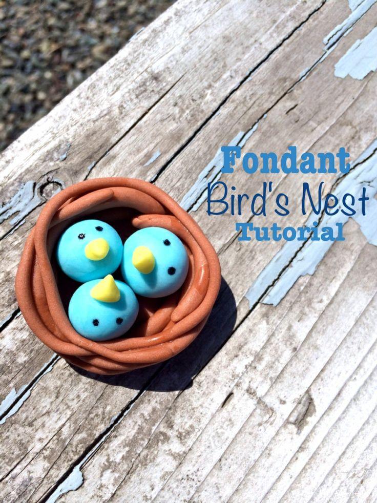 How to: Fondant Bird s Nest Tutorial Cake decorating ...