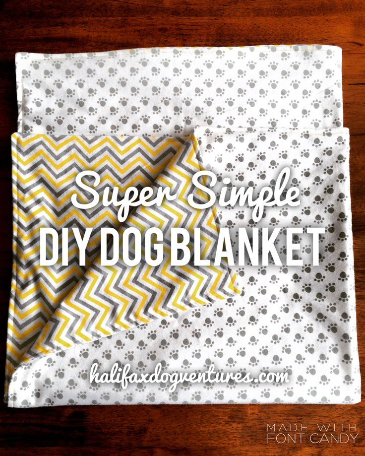 How to make a Super Simple (Reversible) DIY Dog Blanket. halifaxdogventures.com