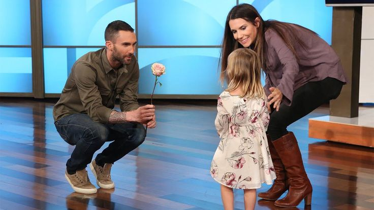 Adam Levine's New Girlfriend<---Three-year-old Mia is Adam's biggest (little) fan, and had quite the reaction when she found out he was married!