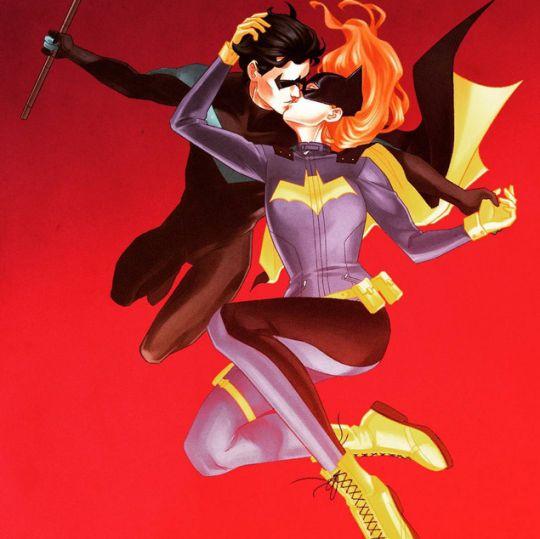 Nightwing and Batgirl by Yasmin Liang