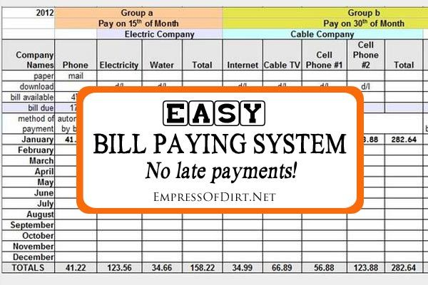 Super easy bill paying system to keep your expenses organized and never miss a payment | Household Organization
