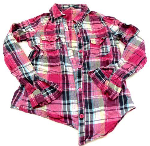 BRUMLA.CZ – Značkový dětský a dospělý second hand a outlet, použité oděvy pro děti a dospělé - Růžovo-barevná kostkovaná halenka zn. Cherokee