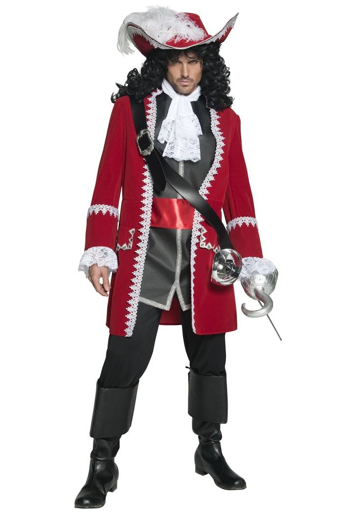 Mens Regal Pirate Captain Costume $68.99 Medium halloweencostumes.com