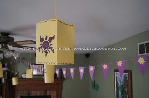 Tangled Birthday Party DIY Lanterns