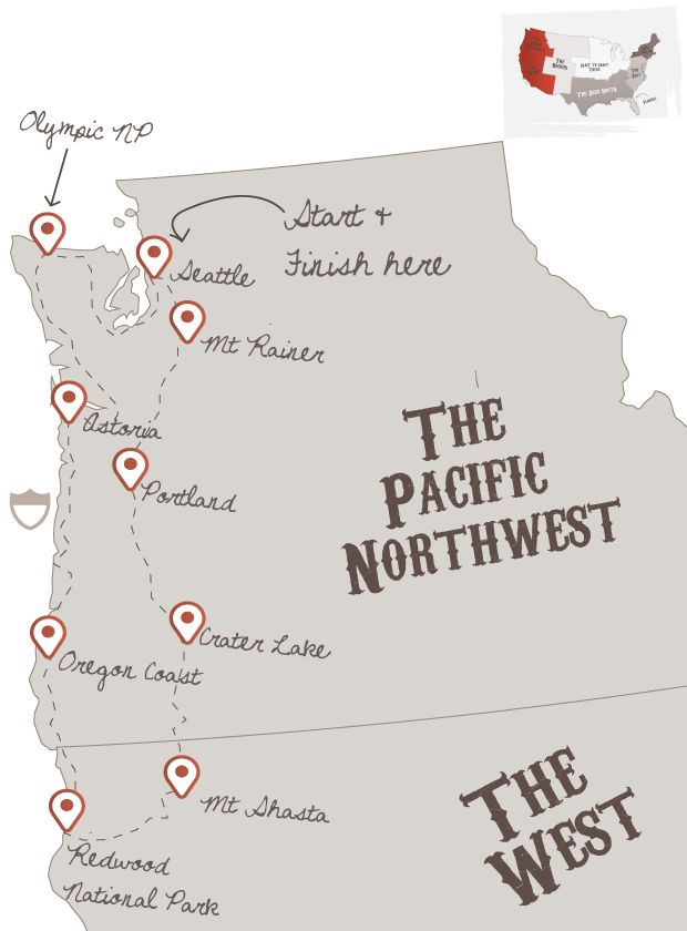 Northwest Explorer | The American Road Trip Company.... Some of my most favorite places ever:)