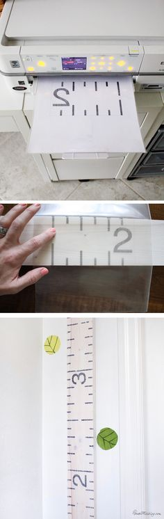 Easiest way to transer ink to wood - DIY ruler growth chart with printables