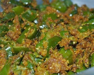 BESAN WALI SHIMLA MIRCH RECIPES   Healthy life healthy food