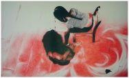 Obra: 'Boli Bic (Negro y rojo)'  Categoría: Dibujo Autor/a: Gladie Baculo Malabanan