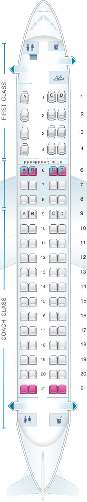 Seat Map Alaska Airlines – Horizon Air Embraer 175