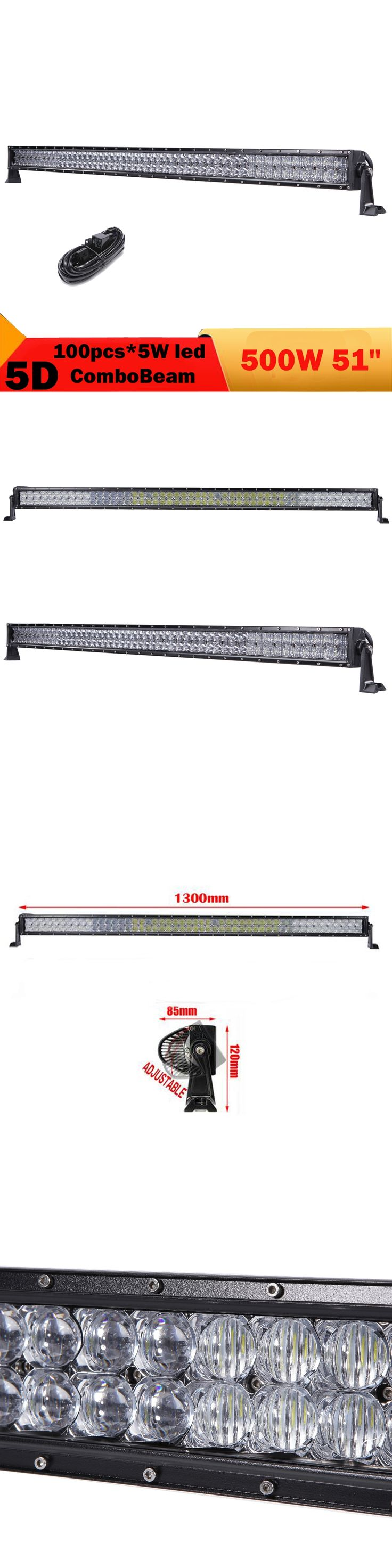 5D 500W LED Light Bar 51 Inch Combo Offroad DRL 4X4 4WD Truck Boat Bus Car Wagon ATV UTE SUV Fog Lamp For Jeep Wrangler Patriot