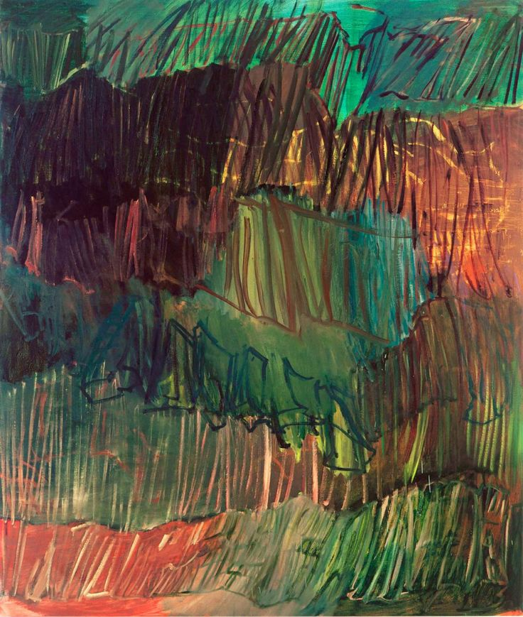 Per Kirkeby, 1938 Herbst-Anastasis IV 1997 Olja på duk 200 x 170 cm