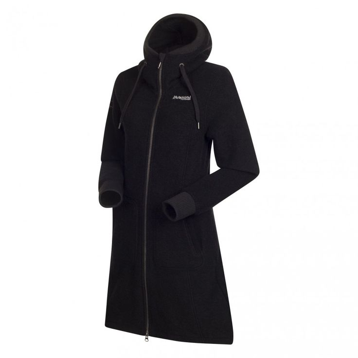 Mantel Wolle schwarz