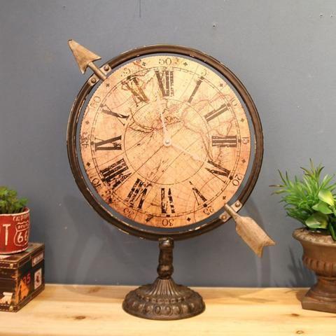 Novelty Decorative Antique Roman Iron Desk Table-Top Clock-Floessence