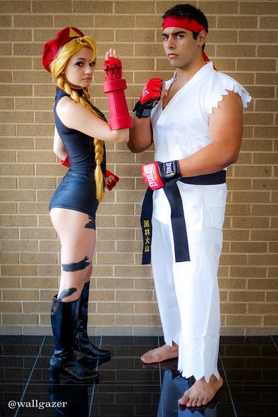 Cammy and Ryu from Street Fighter #cosplay at ConnectiCon 2015 - Tom DeRosa