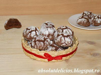 Absolut Delicios - Retete culinare: FURSECURI CRAPATE CU CIOCOLATA (CHOCOLATE CRINKLE ...