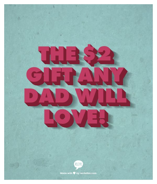 Cheap Gift For Dad