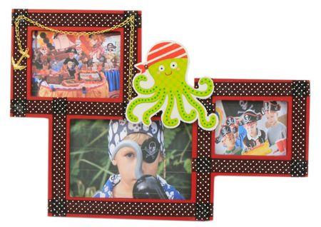 Portarretrato para fiestas infantiles / Marco de madera para niños