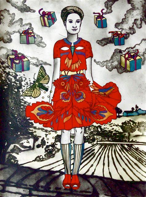Summer by Mandy Renard - printmaker - Tasmanian artist