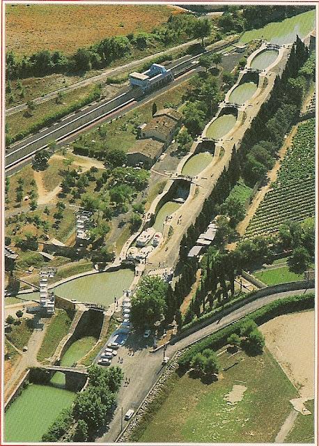 Le canal du Midi-Beziers-France