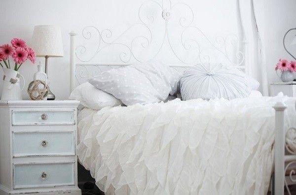 L'eleganza della camera da letto shabby chic
