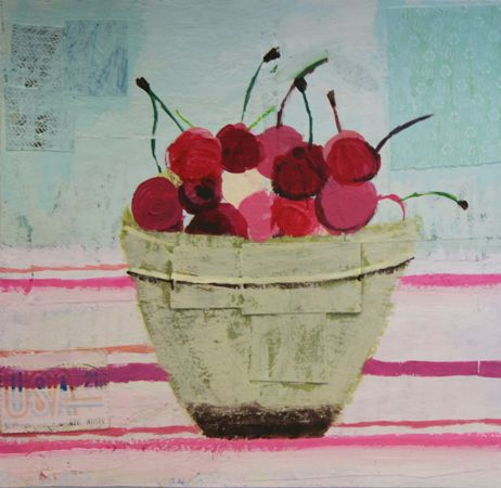 Charlotte Hardy. cherries, bowl, produce