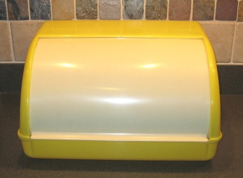 1950s Vintage Plastic Lustro Ware Yellow Bread Box 8 21 ...