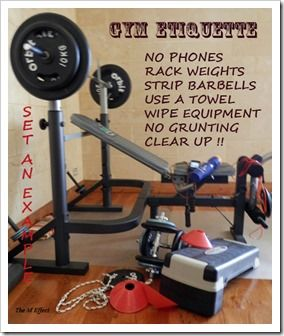 Are the written and unwritten rules being adhered to at your gym?