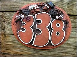 Výsledek obrázku pro číslo domu z keramiky