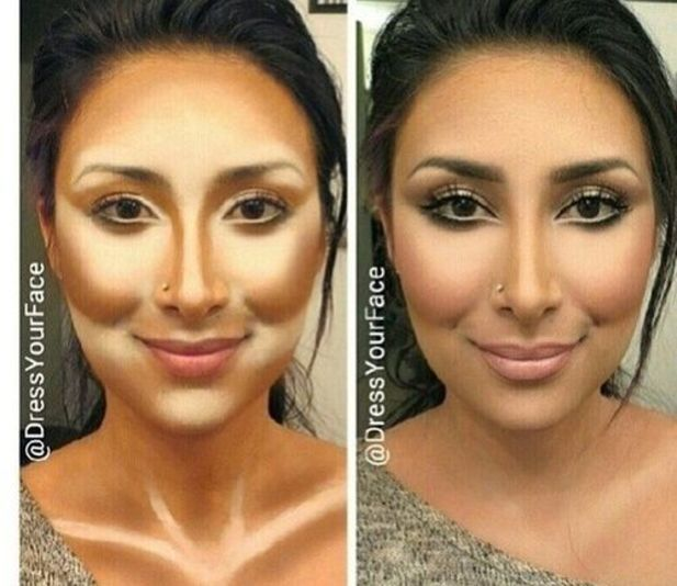 A guide for how to contour and highlight.