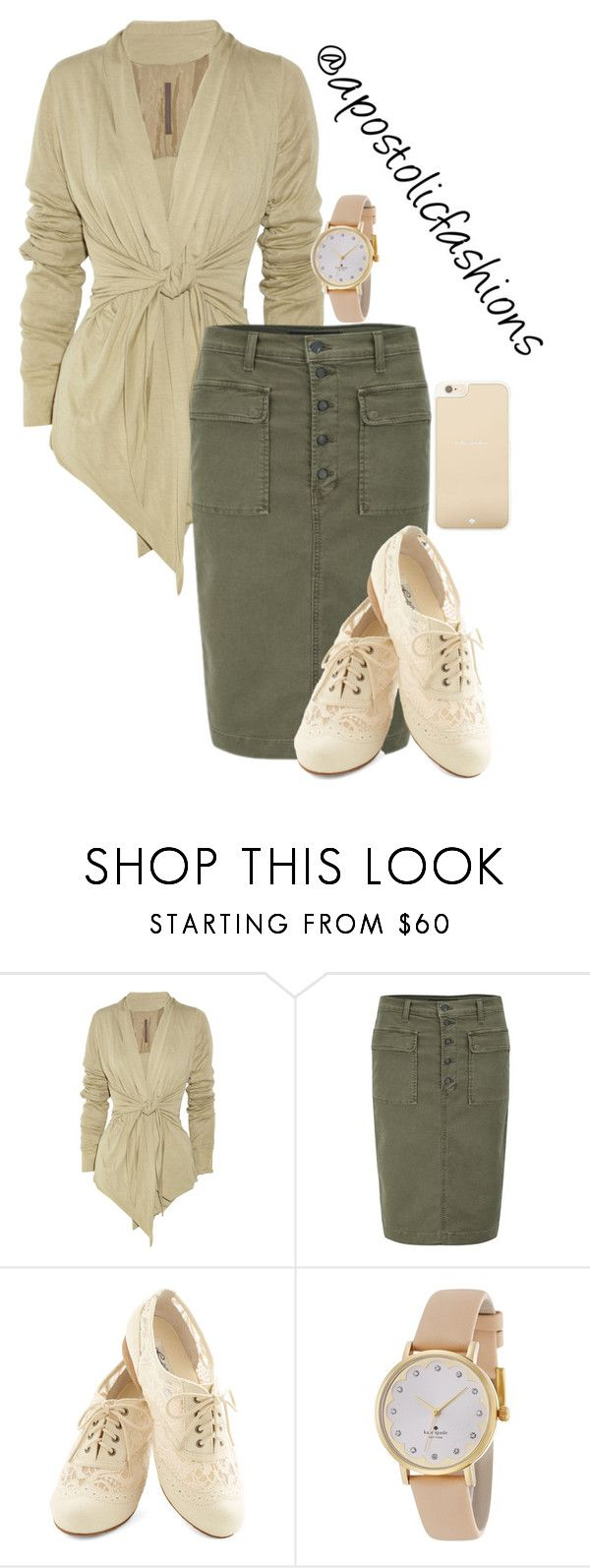 """""""Apostolic Fashions #1241"""" by apostolicfashions ❤ liked on Polyvore featuring Rick Owens Lilies, J Brand and Kate Spade"""