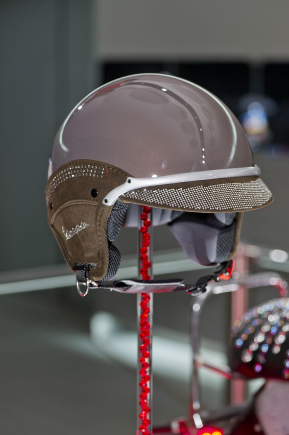 SWAROVSKI ELEMENTS has taken its first step into the previously unexplored field of helmets. The stunningly innovative and contemporary designs from a select group of nine top-drawer international brands are the last word in glittering urban chic. Tailored to motorcycling, horseback riding, cycling, and skiing.  www.harmanbeads.com