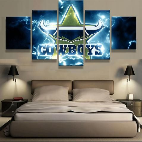5 Pieces Dallas Cowboys Sports Team Logo Modern Home Wall Decor Canvas Picture Art HD Print Painting On Canvas For Living Room