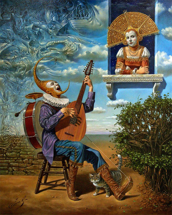"""Michael Cheval Perfect Stranger 30"""" x 24"""", oil on canvas, 2008"""