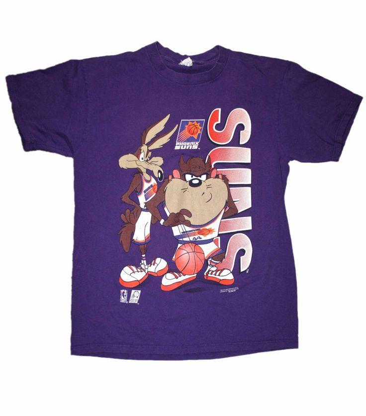 vintage 1993 suns looney tunes nba shirt mens size
