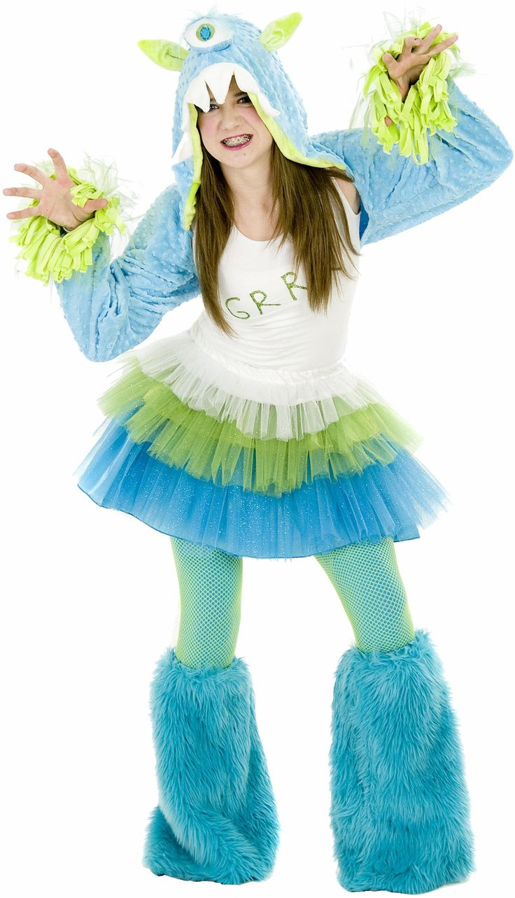 buy grrr monster halloween costume tween size go out trick or treating this halloween in style the grrr monster halloween costume includes a hooded - Halloween Costume Monster
