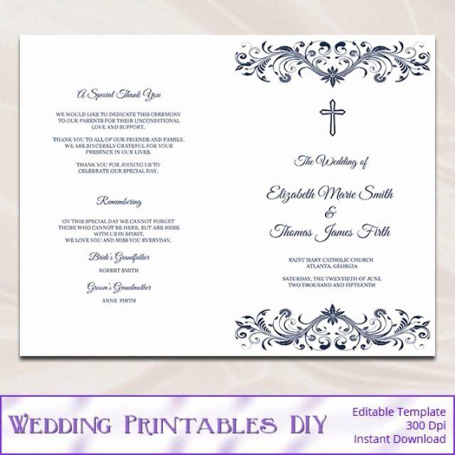 Catholic Wedding Ceremony Program Templates Beautiful Catholic