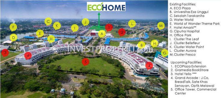 Fasilitas sekitar apartemen EcoHome CitraRaya