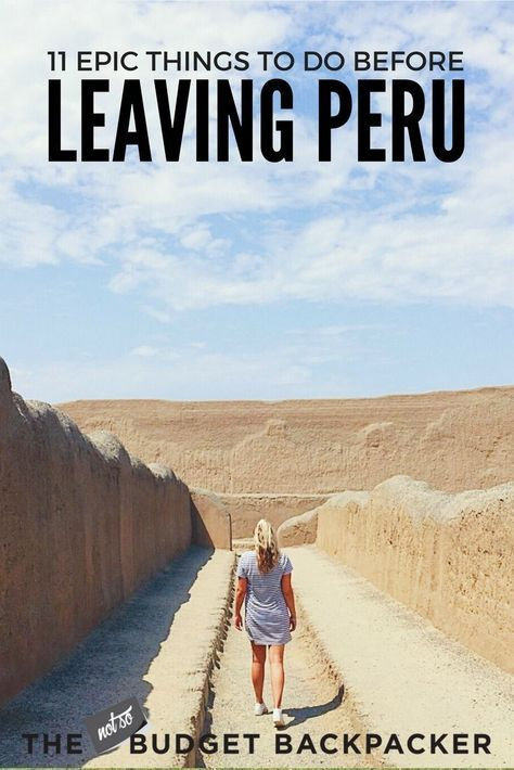 This is my Peru hit list. The top 11 things to do in Peru before you leave. You'll be kicking yourself if you miss these! South America Travel.