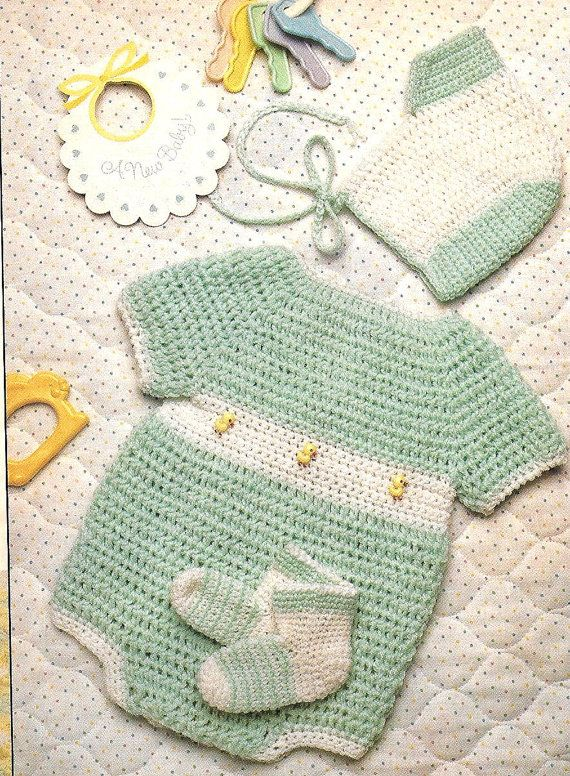 Marine Baby Sweater Crochet Pattern Instructions for Size Newborn3 months 36 months and 912 months