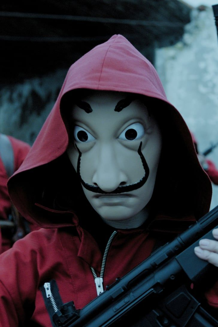 Money Heist May Not Be A True Story But It Definitely Has Some Real Life Inspiration Netflix Series Iphone Wallpaper Netflix