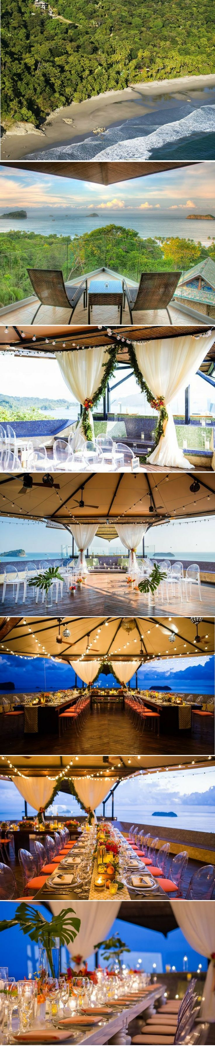 This private villa is one of the most stunning Costa Rica wedding locations!   LOVE this beautiful destination wedding venue!