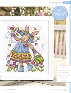 Let's Bee Friends Gardening Bunny The World of Cross Stitching Issue 228 May 2015 Saved