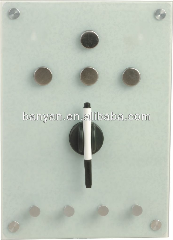 Glass magnetic notice board with hook $3.5~$7