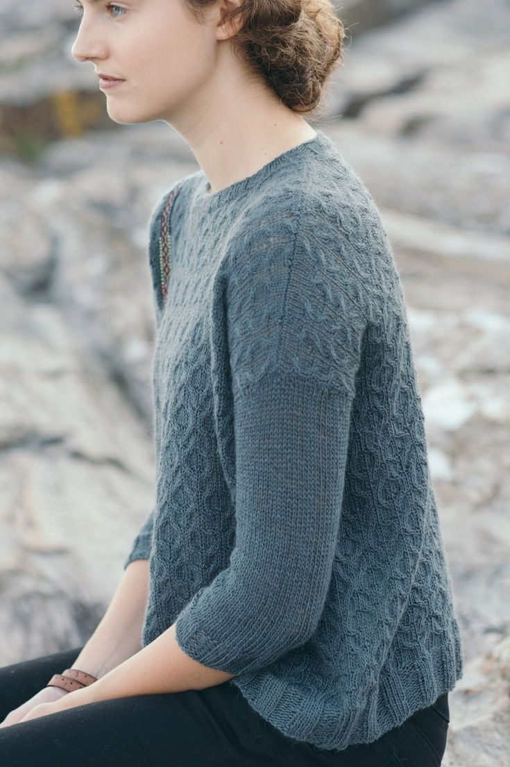 watershed designed by bristol ivy / from the piper 2017 collection / in quince & co. piper, color lone oak