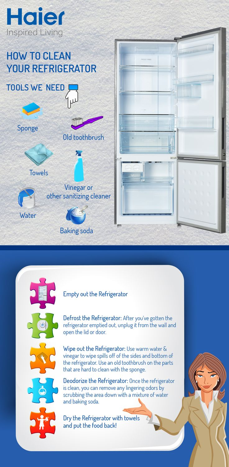 Clean your #refrigerator from filthy to flawless in few minutes! #DoItYourself