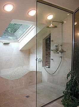 Slanted Ceiling Shower Design Ideas, Pictures, Remodel, and Decor - page 3